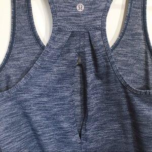 lululemon athletica Tops - Lululemon Size 4 Heather Navy Blue Tank Top